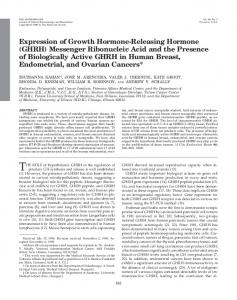 Expression of Growth Hormone-Releasing Hormone (GHRH ...