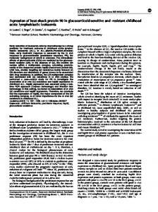 Expression of heat-shock protein 90 in glucocorticoid-sensitive and ...