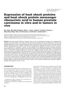 Expression of heat shock proteins and heat shock protein ... - BioOne