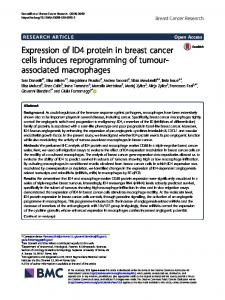 Expression of ID4 protein in breast cancer cells induces ...
