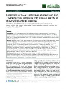 Expression of K2P5.1 potassium channels on CD4+ T ... - BioMedSearch