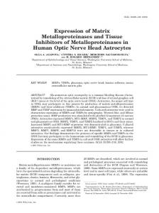 Expression of matrix metalloproteinases and tissue ...
