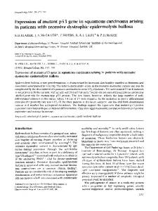 Expression of mutant p53 gene in squamous ... - Wiley Online Library