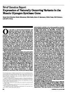 Expression of naturally occurring variants in the muscle glycogen ...
