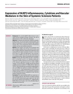 expression of nlrP3 inflammasome, cytokines ...