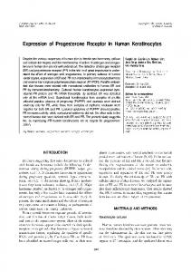 Expression of Progesterone Receptor in Human ... - BioMedSearch