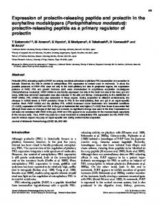 Expression of prolactin-releasing peptide and prolactin in the ...