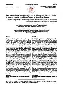 Expression of regulatory proteins and proliferative activity ... - doiSerbia