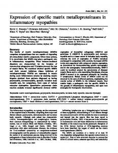 Expression of specific matrix metalloproteinases in inflammatory ...