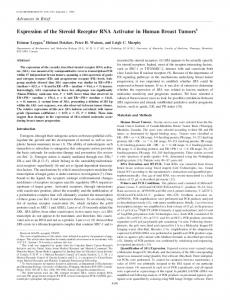 Expression of the Steroid Receptor RNA Activator ... - Cancer Research