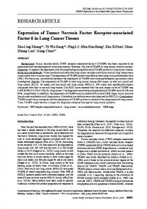 Expression of Tumor Necrosis Factor Receptor-associated Factor 6 in ...
