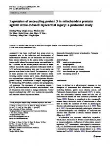 Expression of uncoupling protein 3 in mitochondria ... - Springer Link