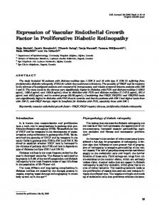 Expression of Vascular Endothelial Growth Factor in Proliferative ...