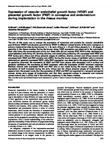 Expression of vascular endothelial growth factor (VEGF) and placental ...