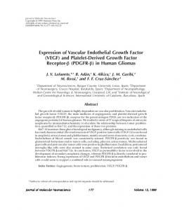 Expression of vascular endothelial growth factor (VEGF) and platelet ...