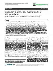 Expression of VPAC1 in a murine model of allergic asthma ...