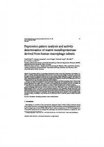 Expression pattern analysis and activity determination of ... - IOS Press
