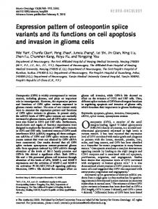 Expression pattern of osteopontin splice variants ... - Oxford Journals