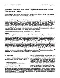 Expression Profiling of PBMC-based Diagnostic ... - Oxford Journals