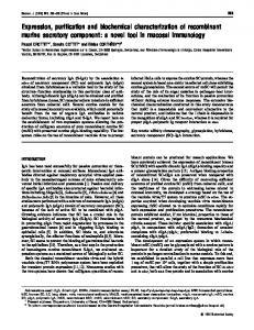 Expression, purification and biochemical characterization of ...