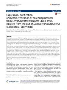 Expression, purification and characterization of an ... - Core