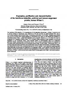 Expression, purification and characterization of the interferon ...