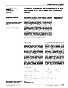 Expression, purification and crystallization of two