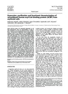 Expression, purification and functional characterization of recombinant ...