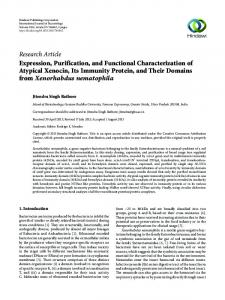 Expression, Purification, and Functional Characterization of Atypical ...