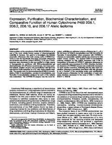 Expression, Purification, Biochemical Characterization, and ...