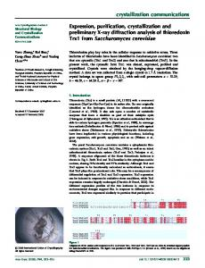 Expression, purification, crystallization and preliminary X-ray ...
