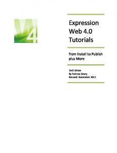 Expression Web 4.0 Tutorials - Expression Templates
