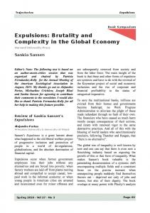 Expulsions: Brutality and Complexity in the Global ... - Saskia Sassen