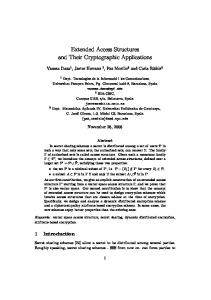 Extended Access Structures and Their Cryptographic Applications