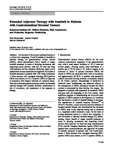 Extended Adjuvant Therapy with Imatinib in Patients ... - Springer Link