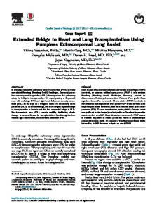 Extended Bridge to Heart and Lung Transplantation Using Pumpless ...