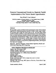 Extended Computational Kernels in a Massively ...