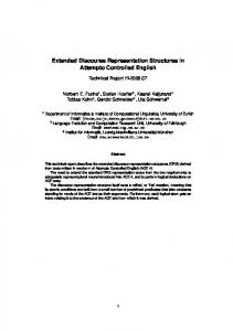 Extended Discourse Representation Structures in Attempto Controlled ...