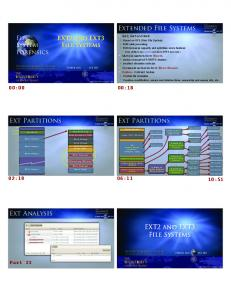 Extended File Systems Ext Partitions Ext Partitions Ext Analysis ...