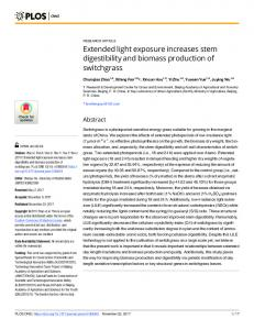 Extended light exposure increases stem