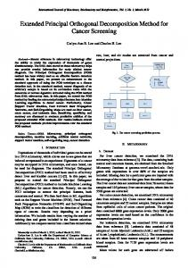 Extended Principal Orthogonal Decomposition Method for ... - ijbbb