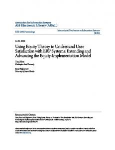 Extending and Advancing the Equity-Implementation Model - CiteSeerX
