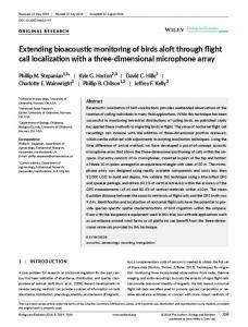 Extending bioacoustic monitoring of birds aloft ... - Wiley Online Library