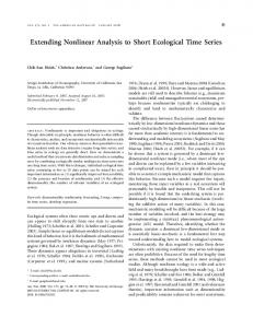 Extending Nonlinear Analysis to Short Ecological Time ... - CCE LTER