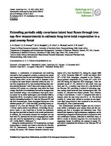 Extending periodic eddy covariance latent heat fluxes through tree sap ...