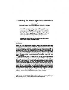 Extending the Soar Cognitive Architecture - Artificial Intelligence ...