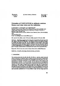 Extension of CASCADE.04 to estimate neutron fluence and dose rates ...