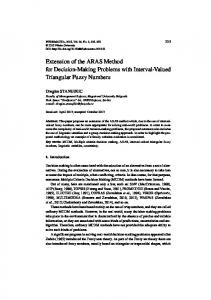 Extension of the ARAS Method for Decision-Making Problems with