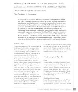 extension of the range of the bryozoans tricellar1a inopinata and ...