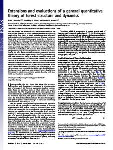 Extensions and evaluations of a general quantitative theory of forest ...